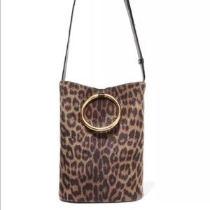 NEW WITH TAGS Stella McCartney Leopard bucket bag